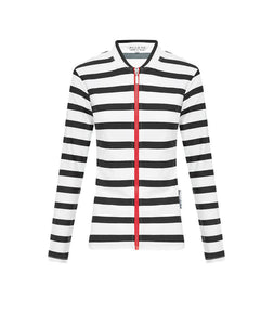 Ladies Black Stripe Long Sleeve Rashie