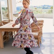 Load image into Gallery viewer, Priska Print Olly Midi Dress