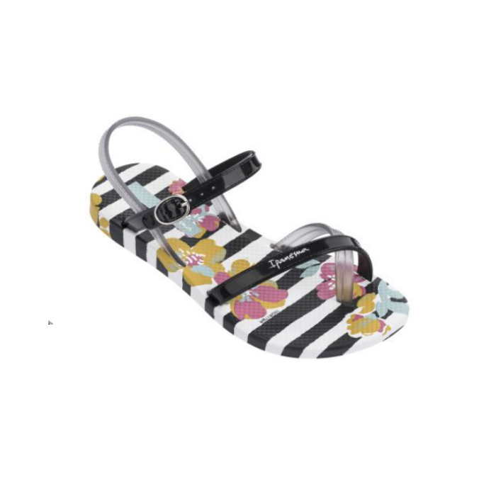 Greta XI Kids White/Black Girls Thongs