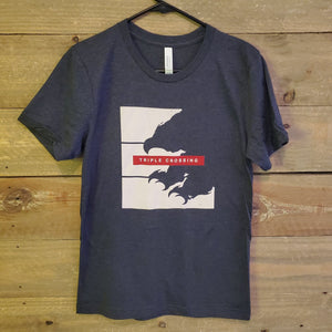 Heather Navy Falcon Smash Tee