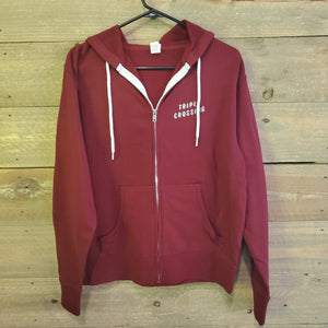 Load image into Gallery viewer, Maroon Mosaic Zipper Hoodie