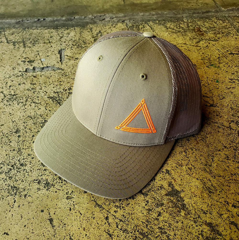 Hunter Green Triangle Mesh Hat
