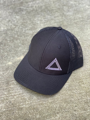 Black Triangle Mesh Hat