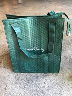 Alpine Green Insulated Tote Bag with Script Logo