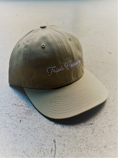 Load image into Gallery viewer, Khaki Dad Hat with Cursive Script