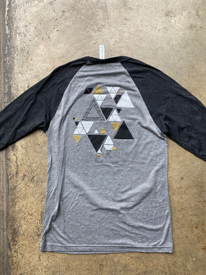Triangle Mosaic Baseball Tee