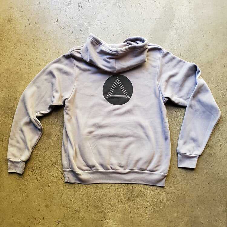 Grey Pullover Hoodie with ⟁