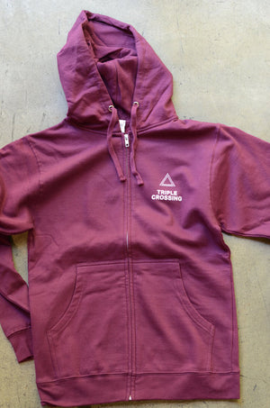 Load image into Gallery viewer, Maroon Triangle Hoodie Sweatshirt