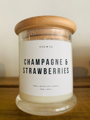 Champagne & Strawberries Candle - Small