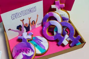 International Women's Day Letterbox Biscuits