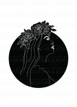 Load image into Gallery viewer, Girl with Flower Crown | A3 Print