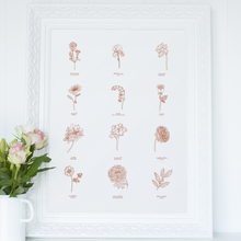 Load image into Gallery viewer, All Birth Month Flowers | Print