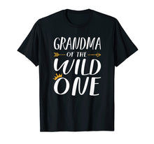 Load image into Gallery viewer, Funny shirts V-neck Tank top Hoodie sweatshirt usa uk au ca gifts for Funny Shirt Cute Grandma Of The Wild One Thing 1st Birthday 1371767