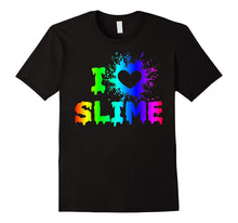 Load image into Gallery viewer, Funny shirts V-neck Tank top Hoodie sweatshirt usa uk au ca gifts for I Love Slime Funny Rainbow Bright Heart Craft Splat T Shirt 2074619