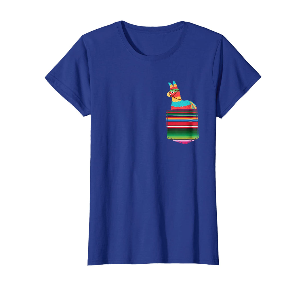 Pinata Blanket Pocket Serape Mexican Fiesta Party T-Shirt