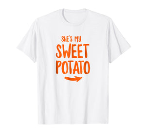 Funny shirts V-neck Tank top Hoodie sweatshirt usa uk au ca gifts for She's My Sweet Potato Yes I yam T Shirt 2438247