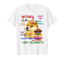 Load image into Gallery viewer, Funny shirts V-neck Tank top Hoodie sweatshirt usa uk au ca gifts for Very Birthday Doge T-Shirt Wow! 1702643
