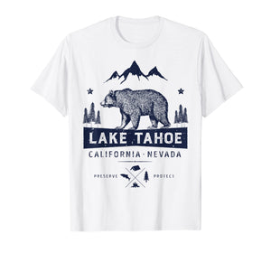 Funny shirts V-neck Tank top Hoodie sweatshirt usa uk au ca gifts for Lake Tahoe T Shirt California Nevada Vintage Bear Men Women 1158709