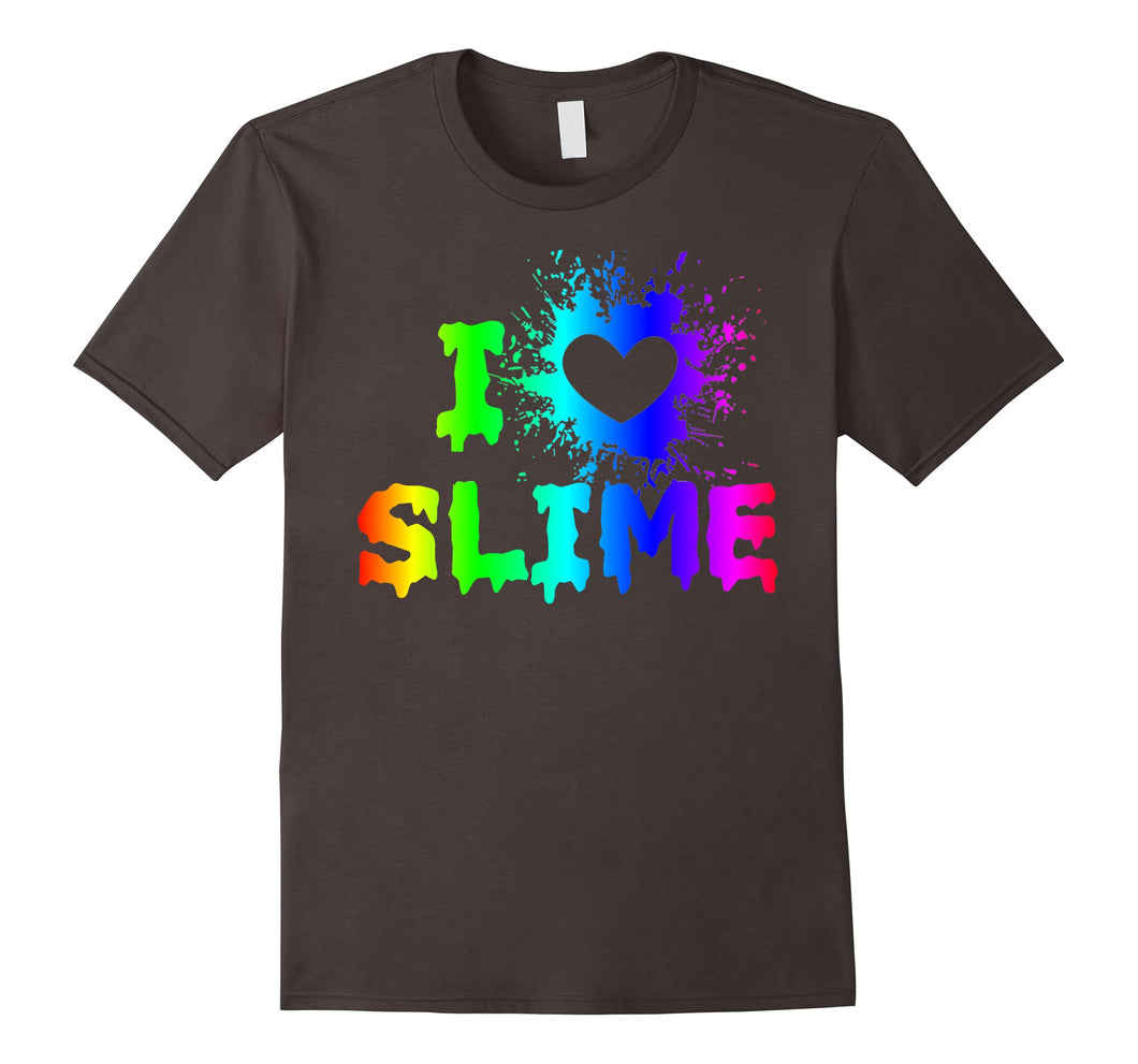 Funny shirts V-neck Tank top Hoodie sweatshirt usa uk au ca gifts for I Love Slime Funny Rainbow Bright Heart Craft Splat T Shirt 2074619
