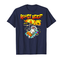 Load image into Gallery viewer, Roast Beef Cow On Beach Vacation Sun Tan T-Shirt