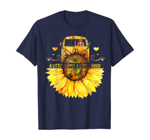 Sunflower A Little Hippie A Little Hood Funny Hippie Shirt