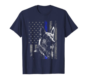 Thin Blue Line Flag K9 Shirt German Shepherd Police Dog Gift