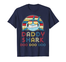 Load image into Gallery viewer, Retro Vintage Daddy Sharks Tshirt gift for Father