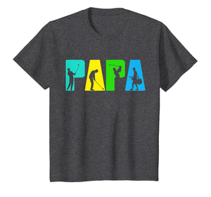 Retro Golfing Papa Tee Shirt. Golf Gifts For Fathers Day