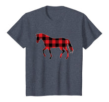 Load image into Gallery viewer, Red Plaid Horse Christmas Pajamas Tee Pig Christmas Gift T-Shirt