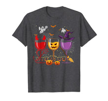 Load image into Gallery viewer, Three Glasses Of Wines Shirt Funny Halloween Wine Lover T-Shirt