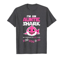 Load image into Gallery viewer, Funny shirts V-neck Tank top Hoodie sweatshirt usa uk au ca gifts for i'm an auntie shark who happens to cuss a lot doo doo doo 1268852