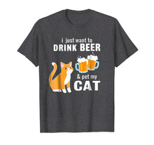Load image into Gallery viewer, Funny shirts V-neck Tank top Hoodie sweatshirt usa uk au ca gifts for I Just Want to Drink Beer And Pet My Cat T-shirt 1140330