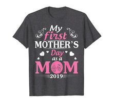 Load image into Gallery viewer, Funny shirts V-neck Tank top Hoodie sweatshirt usa uk au ca gifts for My First Mother's Day As A Mom Of Twin Boy Girl 2019 Shirt 2285505