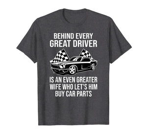 Funny shirts V-neck Tank top Hoodie sweatshirt usa uk au ca gifts for Funny Husband Driver Great Wife Racing Car Parts Tee Shirts 1003477