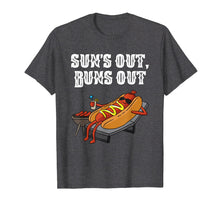 Load image into Gallery viewer, Suns Out Buns Out T-Shirt Funny Hot Dog Tee Food Lover Gift