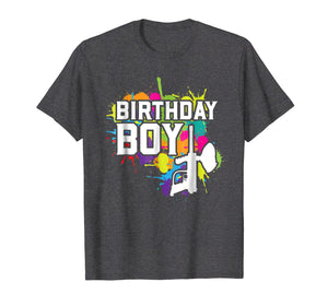 Paintball Birthday Boy Party Theme Shirt