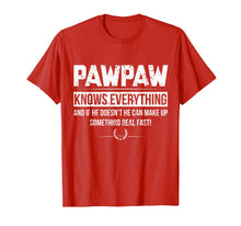 Load image into Gallery viewer, PAWPAW KNOW EVERYTHING FATHER'S DAY FUNNY TSHIRT