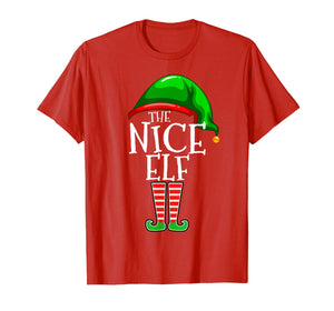 The Nice Elf Group Matching Family Christmas Gifts Funny T-Shirt