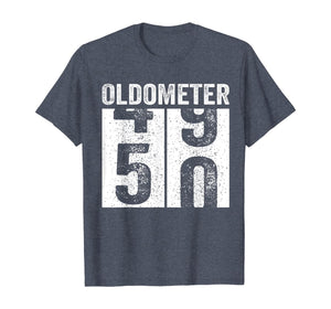 Oldometer 49-50 Shirt 50th Birthday Funny Gift Men Women T-Shirt