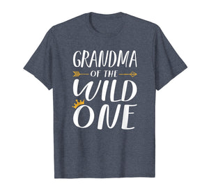 Funny shirts V-neck Tank top Hoodie sweatshirt usa uk au ca gifts for Funny Shirt Cute Grandma Of The Wild One Thing 1st Birthday 1371767