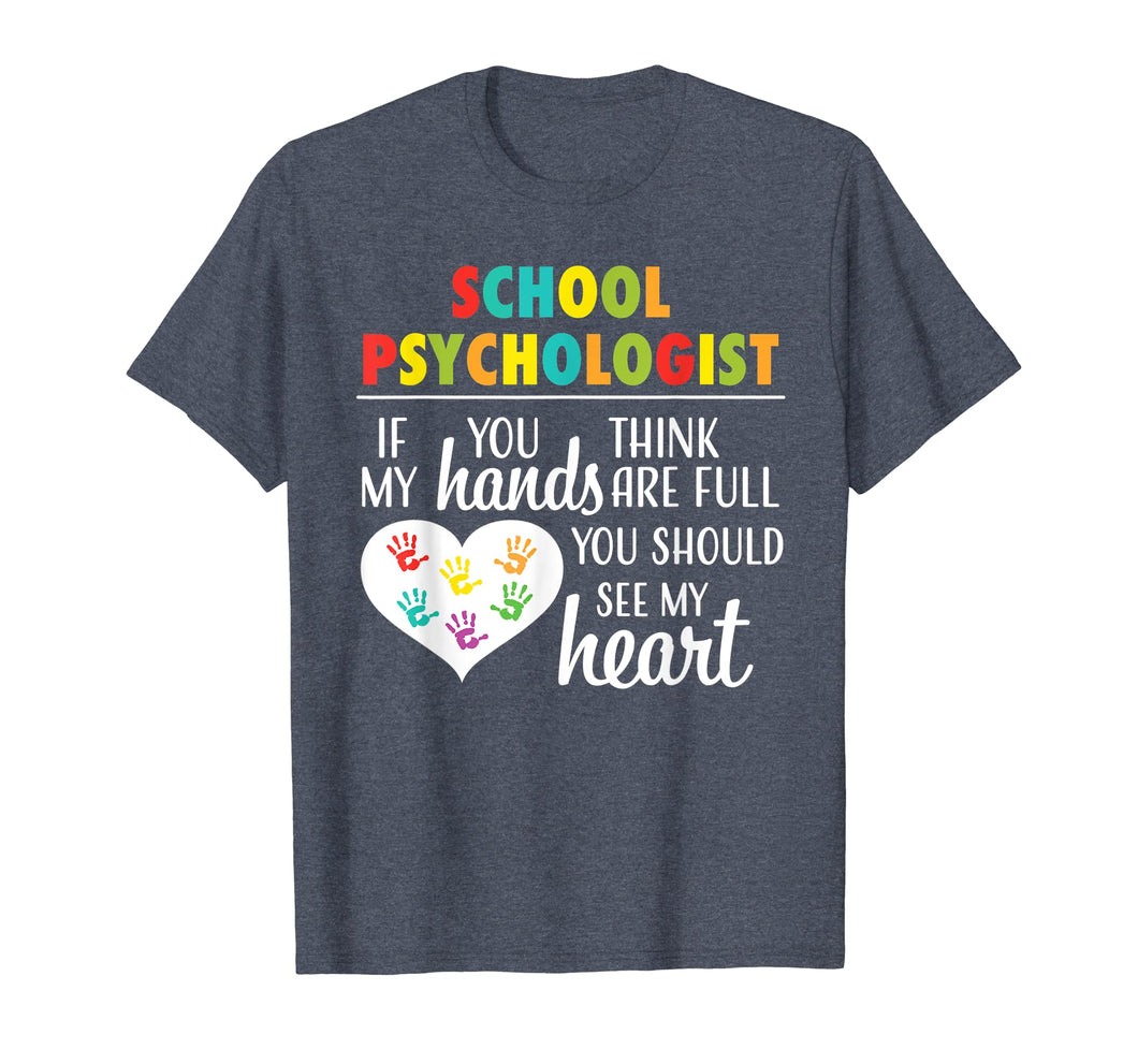 School Psychologist Heart Shirt Cute Gift for Women
