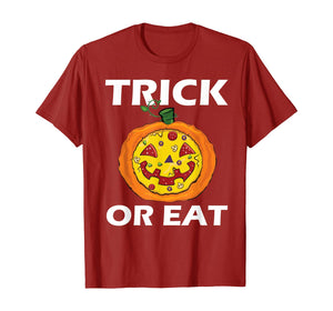Trick Or Eat Costume Pizza Face Halloween Gift T-Shirt