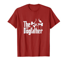 Load image into Gallery viewer, The Dogfather Shirt Dog Dad Fathers Day Gift Shirt Dog Lover
