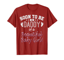 Load image into Gallery viewer, Soon To Be A Daddy Baby Girl Expecting Father Gift T-Shirt