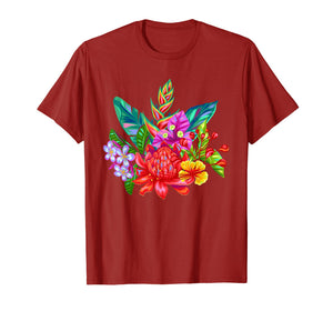 Funny shirts V-neck Tank top Hoodie sweatshirt usa uk au ca gifts for Tropical Flowers T Shirt, Vibrant Floral Garden Colors 1535562