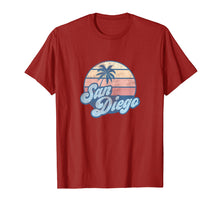 Load image into Gallery viewer, San Diego California CA T Shirt Vintage 70s Retro Surfer Tee