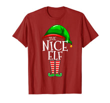 Load image into Gallery viewer, The Nice Elf Group Matching Family Christmas Gifts Funny T-Shirt