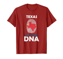 Load image into Gallery viewer, Texas is in my DNA Fingerprint Country Identity T-Shirt