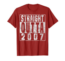Load image into Gallery viewer, Straight Outta 2007 12th Birthday Gift T-Shirt 12 years old