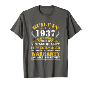Funny shirts V-neck Tank top Hoodie sweatshirt usa uk au ca gifts for Perfectly Aged Built In 1937 82nd Years Old Birthday Shirt 2169509